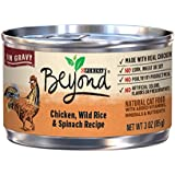 Purina Beyond Chicken, Wild Rice & Spinach Recipe in Gravy Adult Wet Cat Food - 3 oz. Can (Pack of 12)