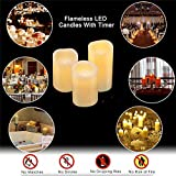 Flameless Battery Operated Flickering Candles: LED