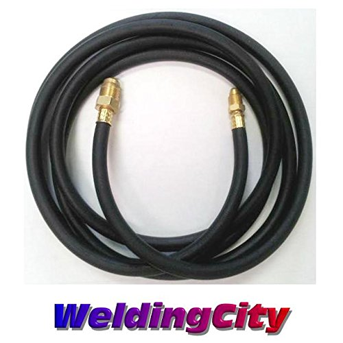 WeldingCity 200Amp Power Cable Hose 46V28R 1-Pcs Style 12.5-ft Rubber for Air-Cooled TIG Welding Torch 26 in Lincoln Miller ESAB Weldcraft CK Everlast AHP