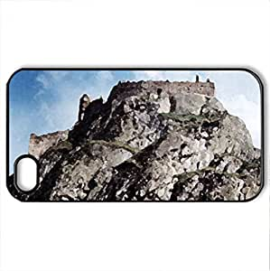 Babak Castle - Case Cover for iPhone 4 and 4s (Ancient Series, Watercolor style, Black)