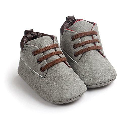 Con Cordones Claro cuero Zapatos Infantil Auxma Gris Niño Suela Zapatos De Niña Bebé Suave YHOvqP