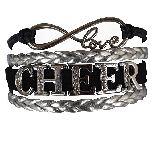 Infinity Collection Cheer Bracelet- Cheerleading Bracelet- Cheer Jewelry - Rhinestone Cheerleading Bracelet for Cheerleader -