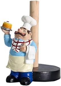 MASSJOY Chef Style Paper Towel Holder, Resin Crafts Display for Kitchen Cafe Western Restaurant Cake Shop Dessert Shop.