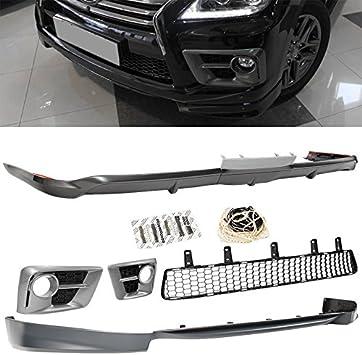 Front Rear Bumper Lip 2013-2015 Lexus LX 570 Sport Spoiler Splitter Air Dam Gray