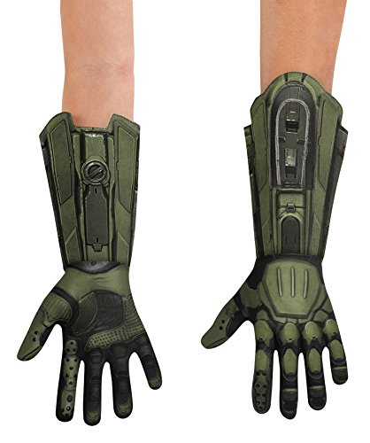 Disguise Halo Master Chief Deluxe Gloves Movie Theme Child Halloween Accessory ()