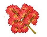12Pcs- Artificial Banyan Leaves Plastic Tree Branches Plant,Maple Leaf