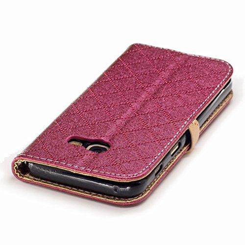 Yiizy Samsung Galaxy A3 (2017) / A320F/FL / A320Y Funda, Amar Diseño Solapa Flip Billetera Carcasa Tapa Estuches Premium PU Cuero Cover Cáscara Bumper Protector Slim Piel Shell Case Stand Ranura para