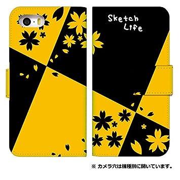 f2db5eda4f スマホケース 手帳型 アイフォン5sケース 8151-D. 大きい桜 iphone5s iphone5se iphone5 ケース