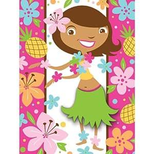 Creative Converting Pink Luau Fun 8 Count Postcard Party Invitations