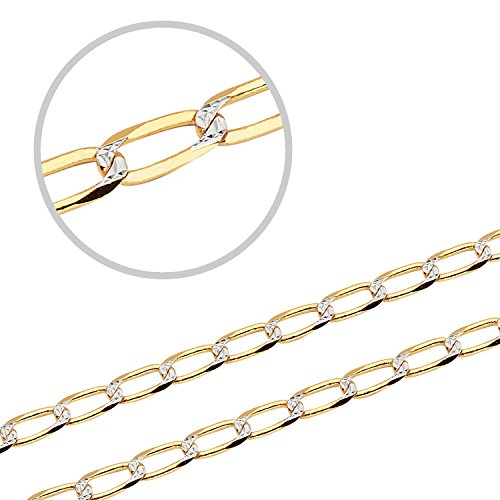 SOLID 14K YELLOW GOLD WHITE PA