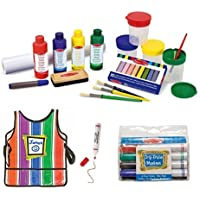Melissa & Doug Easel Accessory Set, Smock and Dry Erase Markers by Melissa & Doug
