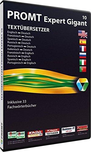 PROMT Expert 10 Gigant: Übersetzungssoftware für freiberufliche Übersetzer und Dolmetscher, die Ihre Übersetzungsprozesse automatisieren möchten