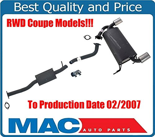 (Mac Auto Parts 131789 Resonator with Middle & Rear Muffler from Production Date 03 2/07 G35 RWD Coupe)