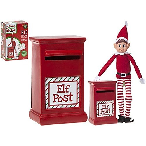 14cm Elf Post Box - Includes 1 Official Elf Report - Christmas Decorations - Elves Behaving -