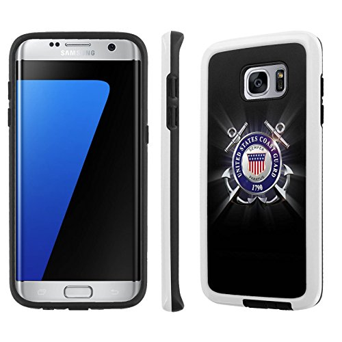 - Galaxy [S7 Edge] Defender Hybrid Case [SlickCandy] [White/Black] Dual Layer Protection [Shock Proof] Phone Case - [United States Coast Guard] Samsung [Galaxy S7 Edge] [GS7 Edge]