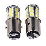 INHDBOX 2 x Car Bulb 6V 35 / 35W BA20d Socket Led Light Bulbs Headlights