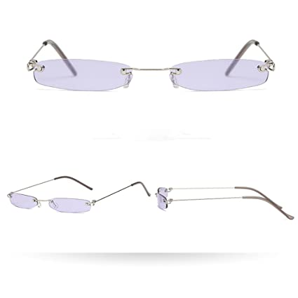 25077b777d Image Unavailable. Image not available for. Color  Rumas Retro Rectangular  Sunglasses with Nose Pads ...