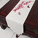Fabrics Cotton, Linen Table Runner/ Modern Table Runner-D 33x300cm(13x118inch)