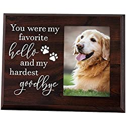 Elegant Signs Dog Memorial Gifts - Remembrance Picture Frame You were My Favorite Hello My Hardest Goodbye - Sympathy Loss Dog