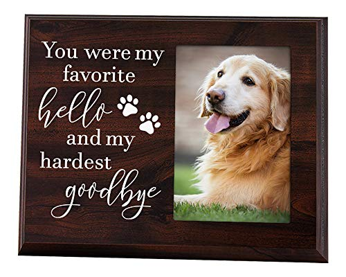 Elegant Signs Dog Memorial Gifts - Remembrance Picture Frame You were My Favorite Hello and My Hardest Goodbye - Sympathy for Loss of - Frame Dog