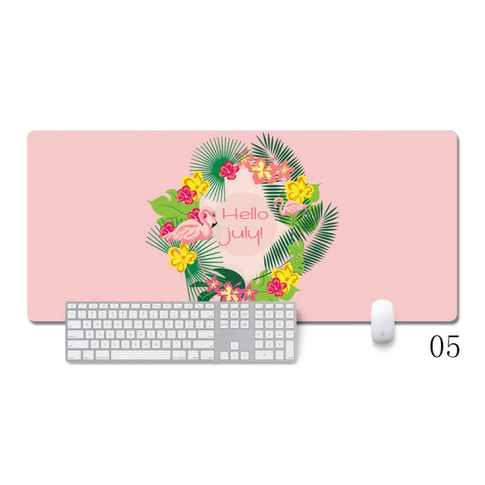 Tzsysb Alfombrilla de ratón grande juego de costura de dibujos animados alfombrilla de ratón teclado de la computadora de oficina antideslizante niñas ...