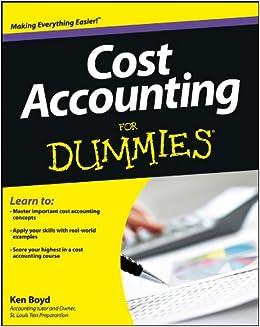 Cost Accounting For Dummies PDF Descargar Gratis