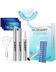OUZIGRT Tandenbleekset, Teeth Whitening Kit met 16X Bedrade Tanden Bleken Lamp en 3 Teeth Whitening Pen, Voor Thuis Tandreiniging en Tandverzorging