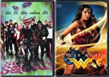 The Squad of heroes Movie 2 Pack DVD Bad Guys Suicide Squad & DC Wonder Woman Super Hero Double Feature Wonder Woman / Batman / Superman / The Flash / Cyborg / Aquaman