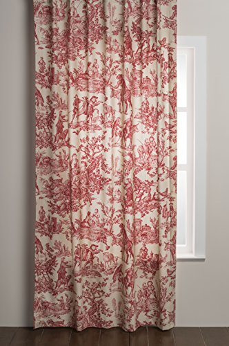 Maison d' Hermine The Miller 100% Cotton Toile Curtain 50 Inch by 96 Inch