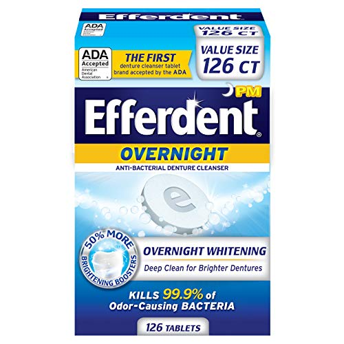 Efferdent PM Overnight Anti-Bacterial Denture Cleanser | 126 Tablets