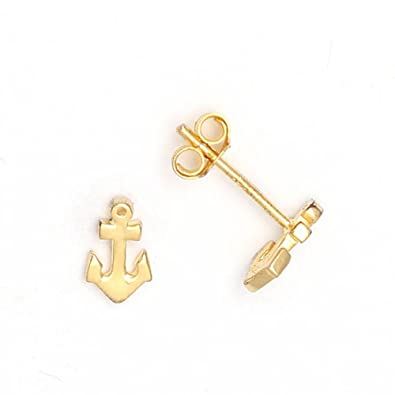 1ecf73231 Image Unavailable. Image not available for. Color: Mini Nautical Anchor  Earrings