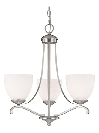 new products 88ff4 8d36d Matte Nickel Chapman 3 Light 1 Tier Mini Chandelier ...
