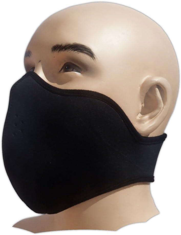 Bestellmich - Máscara parcial de neopreno para deportes extremos, color negro