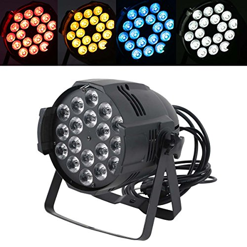 Tengchang Sound-Active 18X15W RGBWA LED PAR Light PAR 64 Can for Stage DJ Dance Lights