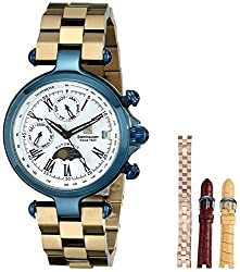 Steinhausen Women's LW692-UWR Marquise Blue Stainless Steel Automatic Watch with Four Interchangeable Bands