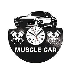 Muscle Car Vinyl Wall Clock Sport Car Wall Art Dodge Car Gift Vinyl Wall Clock For Kitchen Wall Clock For Bedroom Muscle Car Gift For Boy Dodge Gift For Girl Dodge Original Gift For Driver Idea 389