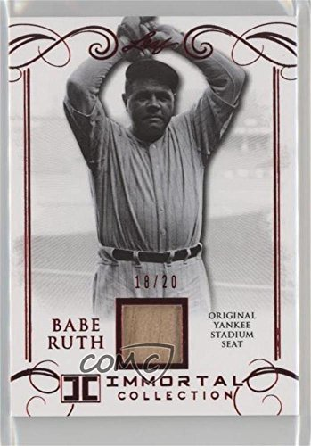 Babe Ruth #/20 (Baseball Card) 2017 Leaf Babe Ruth Immortal Collection - Yankee Stadium Seat - Red Spectrum [Memorabilia] #YS-07