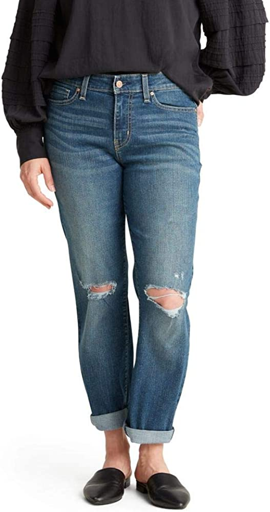 Signature by Levi Strauss & Co. Gold Label Women's Mid Rise Slim Boyfriend Jeans