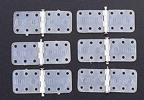 6-Pack Du-Bro 116 5//8 x 1-1//8 Standard Size Nylon Hinge