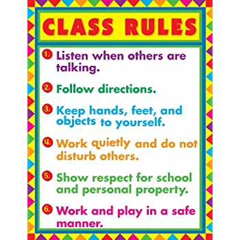 Dramatic image with classroom rules printable