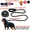 """Primal Pet Gear - Rope Leash - 5ft Long - Heavy Duty - 0.5"""" Thick - Metal Covers - Super Durable - Perfect for Medium, Large and Tough Small Dogs, Puppy -Training - Slip Leashes"""