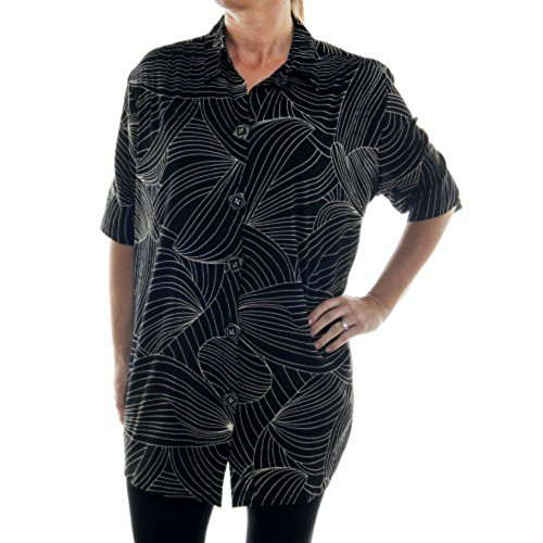 WeBeBop ChaiLatte Crinkle Cotton Ibiza Del Mar Tunic (1X Bust/Hip 58 Length 34) Crinkle Cotton Big Shirt