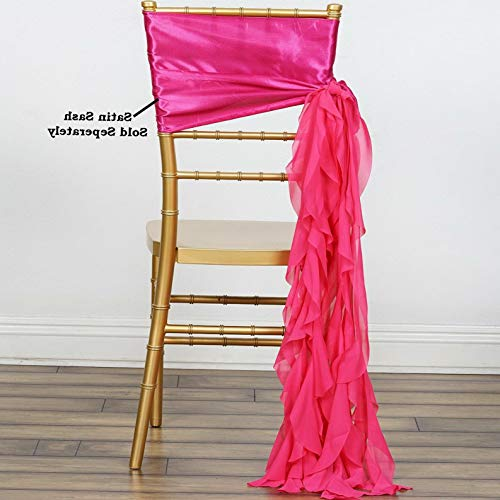 Mikash Chair Sashes Curly Chiffon Wedding Party Reception Home Decorations Wholesale | Model WDDNGDCRTN - 6634 | 1 pc