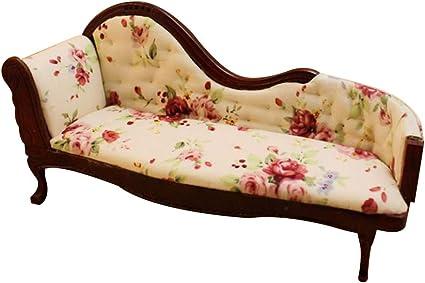 miniatura-chaise longue-sofá-crema-mahaghoni 1:12