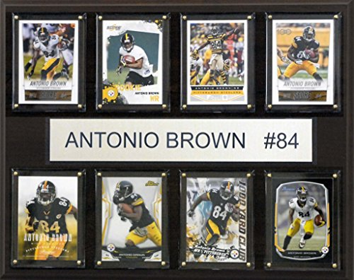 NFL Pittsburgh Steelers Antonio Brown 8-Card Plaque, 12 x 15-Inch from SteelerMania