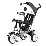 QXMEI Children's Tricycle Stroller Baby Stroller 1 To 6 Years Old Baby Bicycle With Awning,Black2