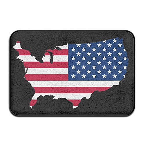 EWD8EQ Flag Of The United States Flag Of Spain Non-slip Indoor/Outdoor Door Mat Rug For Health And Wellness Offices Entrance Rug 23.6''x 15.7'' by EWD8EQ