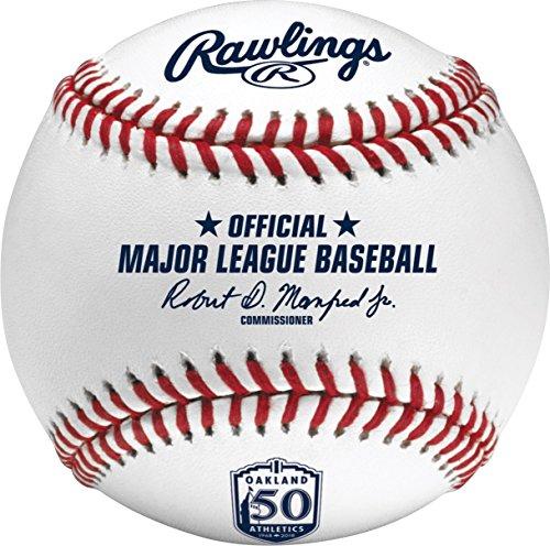 Rawlings Official Oakland Athletics 50th Anniversary MLB Game Baseball Boxed