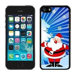 Best Buy Design Iphone 5C TPU Case Santa Claus Black iPhone 5C Case 35