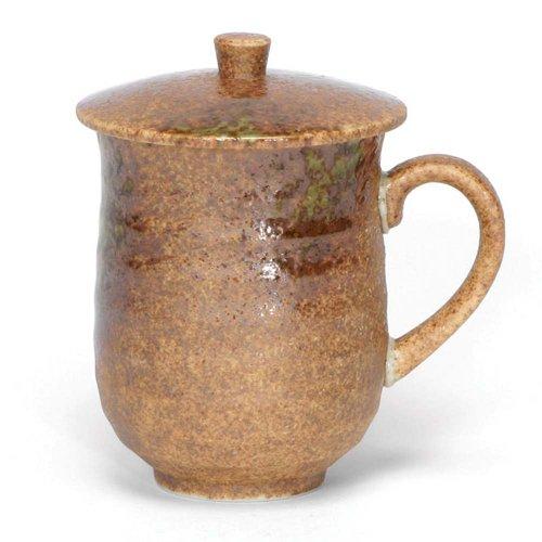 Japanese Mug with Lid, Iga - Japanese Stoneware